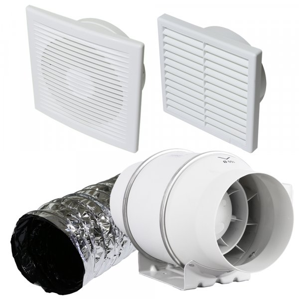 150mm Eco pack EC bathroom extractor fan system