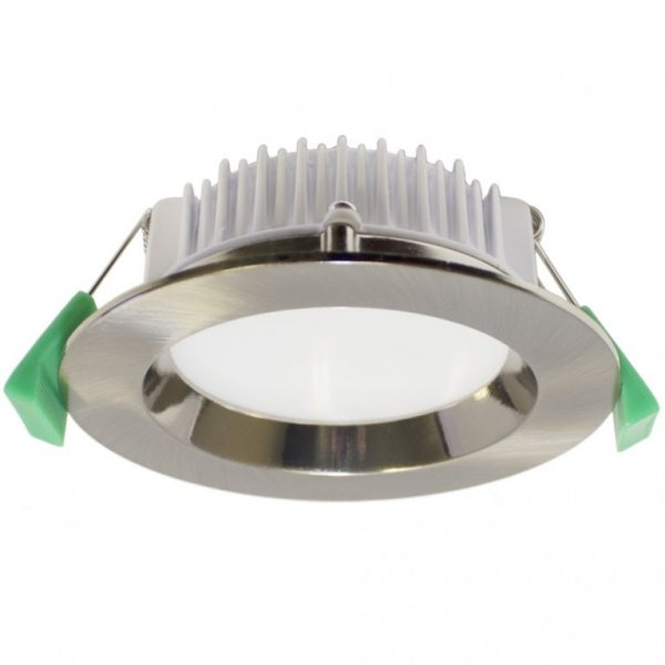 Arte - TRADETEC Brushed nickel 13w 3000k LED Downlight Kit 90mm