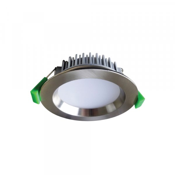 GEO12 - Fixed LED Recessed Downlight 12W Brushed Chrome , 3000K, IP44